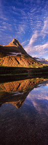 Reflection of a Mountain in Alpine Lake