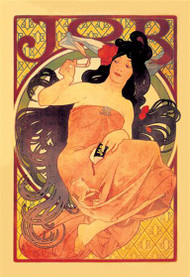 Job Cigarette Ad by Alphonse Mucha