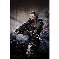 Mass Effect Wall Graphics: Commander Shepard Cover Art II