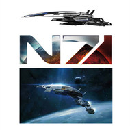 Mass Effect Wall Graphics: Normandy Combo Pack (Normandy Cutout Side Front 12 in x 2 in, N7 Badge 12 in x 4 in, Normandy 7 in x 12 in )