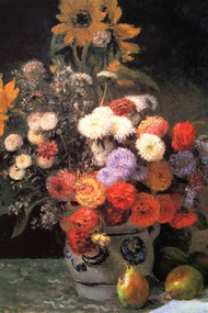 Flowers in a Vase by Renoir