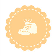Caleb Gray Studio: Baby Shoe Badge