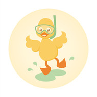 Caleb Gray Studio: Bath Time Ducky Splash Wall Badge