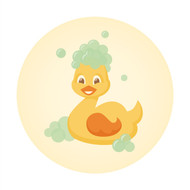 Caleb Gray Studio: Bath Time Ducky Suds Wall Badge