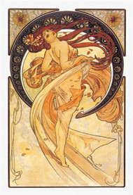 The Arts: Dance (Golden), Alphonse Mucha