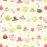 Caleb Gray Studio: Tea Party Dishes Wall Tile