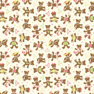Caleb Gray Studio: Teddy Bear Dress Up Wall Tile