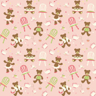 Caleb Gray Studio: Teddy Bear Tea Party Wall Tile