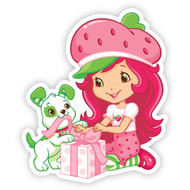 Strawberry Shortcake with Pupcake and Present