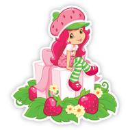 Strawberry Shortcake Sitting on Presents
