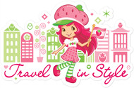 Strawberry Shortcake Travel in Style with Flag
