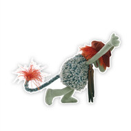 Fraggle Rock Boober Pushing The Wall Cut Out
