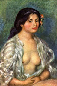 Gabrielle with Open Blouse by Renoir