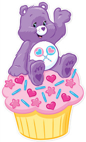 Care Bears Share Bear On Cupcake