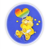 Care Bear Funshine Bear Heart Wall Badge
