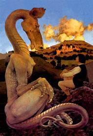 Reluctant Dragon by Maxfield Parrish