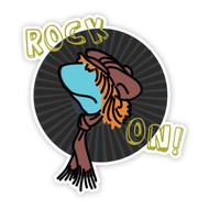 Fraggle Rock Boober Rock On Wall Badge