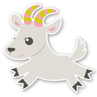 Paddleduck Wall Decals: Gabby Goat