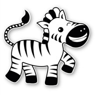 Paddleduck Wall Decals: Ziggy Zebra