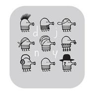 Doodle Jump Wall Badge: DJ NY