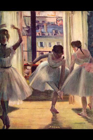 Three Dancers in A Practice Room by Degas
