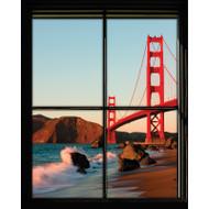 Window Views Golden Gate Bridge