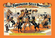 Troupe of Champion Great Danes: Adam Forepaugh & Sells Brothers Great Shows