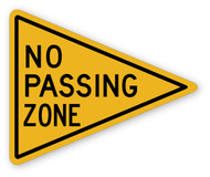 No Passing Zone Wall Graphic