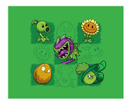 Plants vs. Zombies: PVZ Plants Lawn Grid