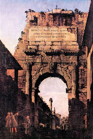 Arch of Titus, Rome by Canaletto