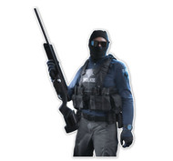 Battlefield Hardline SWAT Professional 3/4 Character Cutout