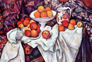 Still Life With Apples and Oranges by Paul Cezanne