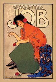 Cigarettes Job 1918 by Alphonse Mucha