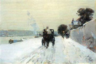 Along the Seine by Hassam by Hassam