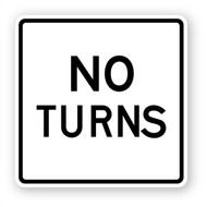 No Turns Wall Graphic