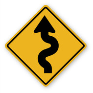 Curvy Road Sign Wall Graphic