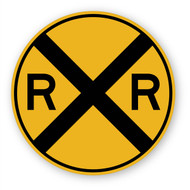 Railroad Crossing Sign Wall Graphic