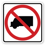 No Trucks Sign Wall Graphic