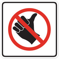 No Hitchhiking Wall Graphic