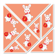 Rene Rabbit Wall Tangrams from PaddleDuck Learning