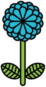 Hippie Weekend Flower Blue