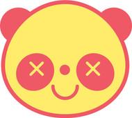 Kawaii Animals Panda Head XX