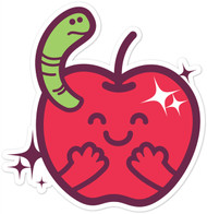 Kawaii Nature Apple Worm