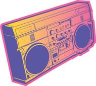 OnTheRadio Radio Pink Orange