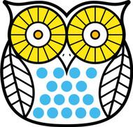 Owls White Black Yellow