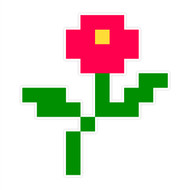 8-Bit Wall Flower (Rose)