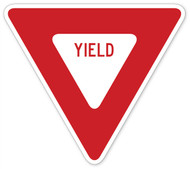 Yield Sign Wall Graphic