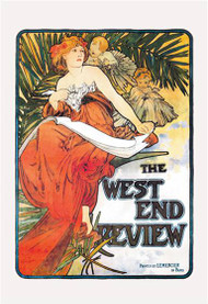 The West End Review by Alphonse Mucha