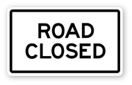 Road Closed Sign Wall Graphic