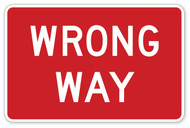 Wrong Way Wall Graphic